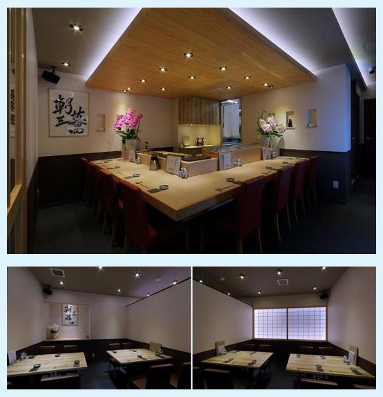 和食店・寿司屋・うどん屋・蕎麦屋 内装デザイン事例55