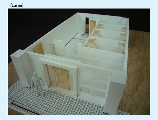 店舗デザイン イメージ模型01
