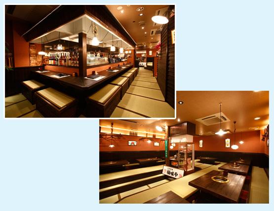鉄板焼き・焼肉店・お好み焼き 内装工事の施工例5
