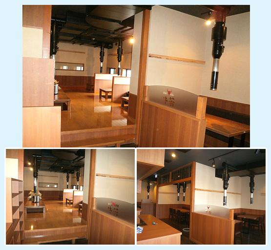 鉄板焼き・焼肉店・お好み焼き 内装工事の施工例12