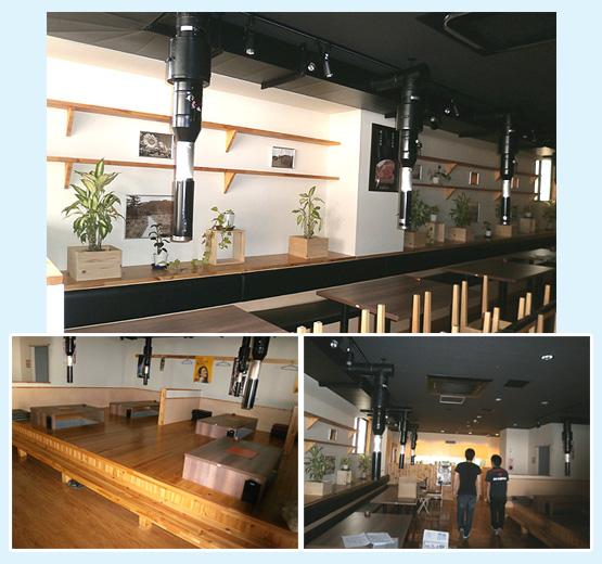 鉄板焼き・焼肉店・お好み焼き 内装工事の施工例14