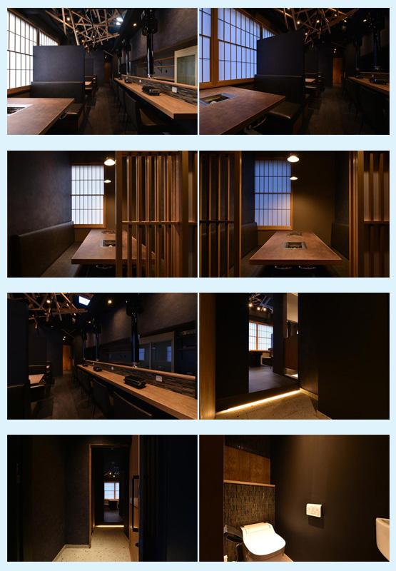 焼肉屋・鉄板焼き店・お好み焼き屋 内装デザイン事例16