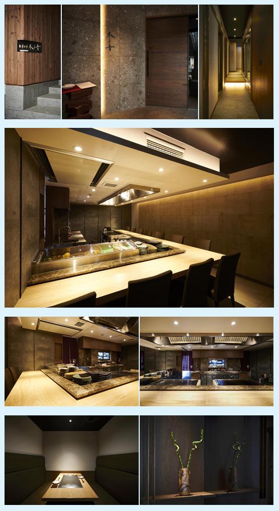 焼肉屋・鉄板焼き店・お好み焼き屋 内装デザイン事例1